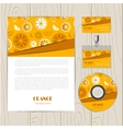 abstract background with orange vector image