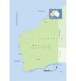 Australia Western Australia vector image