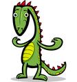 cartoon of lizard or dinosaur vector image