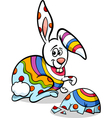 colorful easter bunny cartoon vector image