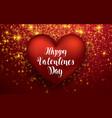luxury elegant happy valentine day festive sparkle vector image