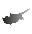 map cipro vector image