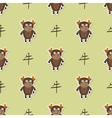 Seamless pattern with Chinese Zodiac Ox Sign vector image