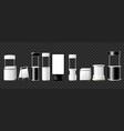 set of advertising pillars columns pennants - vector image