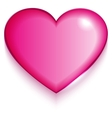 Transparent red valentine heart on white vector image