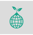Planet sprout icon vector image