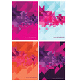 Four abstract backgrounds for design vector image vector image