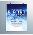 electro night club party flyer poster template vector image