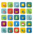 Beauty color icons with long shadow vector image