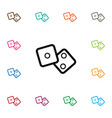 isolated cube icon number element can b vector image