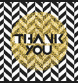 thank you invitation card design template chevron vector image
