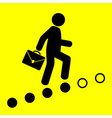 man goes up the career ladder vector image