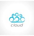 cloud symbol vector image vector image
