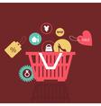 basket of goods vector image