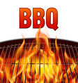 Bbq grill fire vector image
