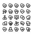 Cloud Computing Icons 1 vector image