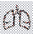 human lung medicine people 3d vector image