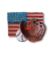 Baseball handmade glove and ball vector image