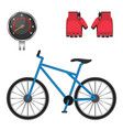 cycling speedometer protective leather gloves vector image