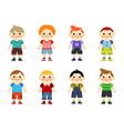 Happy little boys collection set vector image
