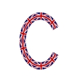 Letter C made from United Kingdom flags vector image