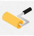 Paint roller isometric 3d icon vector image