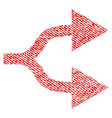 split arrows right fabric textured icon vector image