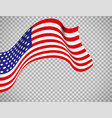 usa flag on transparent background vector image