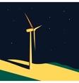 Wind turbine background vector image