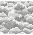 Thunder sky seamless pattern vector image