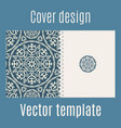cover design with arabic pattern vector image vector image