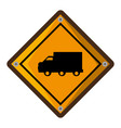 truck zone traffic signal vector image