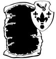 Shield and parchment vector image vector image