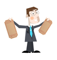 Business Man With Empty Tickets vector image