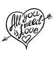 Digitally generated All you need is love vector image