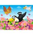 various birds vector image vector image