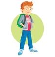 pupil boy cartoon flat vector image