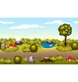 Seamless game environment Summer landscape vector image