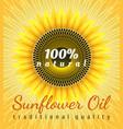 sunflower oil poster vector image