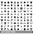 100 t-shirt icons set simple style vector image
