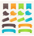 Collection Web Elements vector image vector image