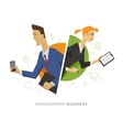 Business male and female user symbol vector image