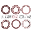 Ukrainian Round Decorative Ornaments vector image