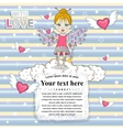 Cute fairy ona clouds vector image
