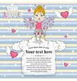 Cute fairy ona clouds vector image
