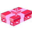 pink gift box vector image vector image