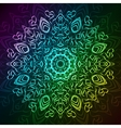 Abstract ornamental round tribal lace pattern on vector image