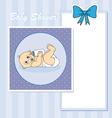 Baby boy arrival vector image