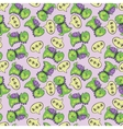 dinosaur pattern green vector image