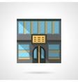 Hotel facade flat color design icon vector image